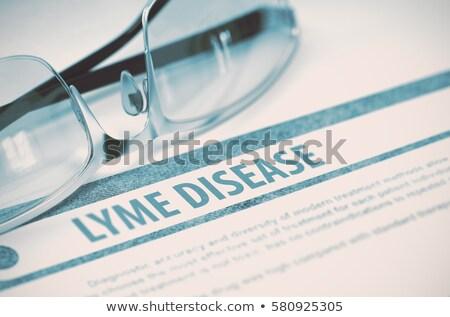 diagnosi · medici · stampata · offuscata · testo · menta - foto d'archivio © tashatuvango