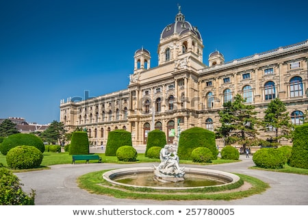 múzeum · természetes · történelem · Bécs · Ausztria · naplemente - stock fotó © tommyandone