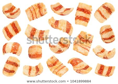 Szalonna sültkrumpli tál búza étel kék Stock fotó © Digifoodstock