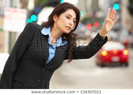 Businesswoman hailing cab Stock photo © IS2