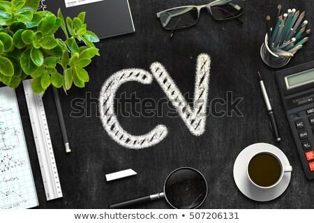 Fekete tábla cv 3D renderelt kép üzlet Stock fotó © tashatuvango