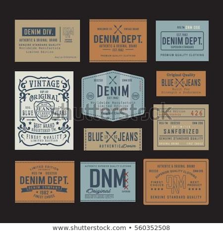 Label джинсовой подробный коричневый Сток-фото © Dinga