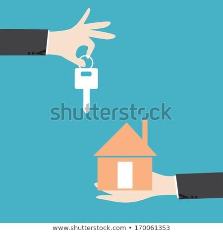 Mains papier maison clé Photo stock © AndreyPopov