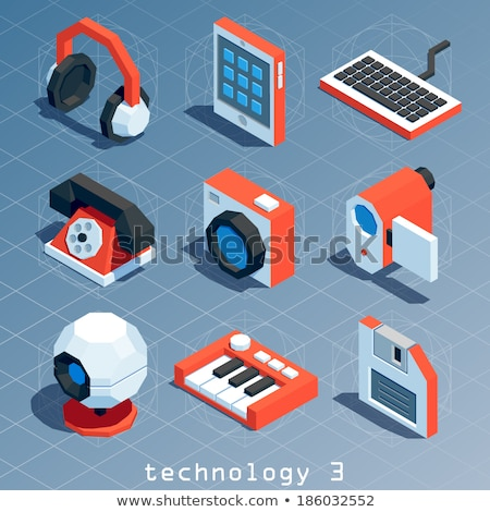 Floppy disk icon in 3d isometric, vector illustration. Stock photo © kup1984