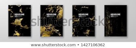 golden blots set stock photo © cammep