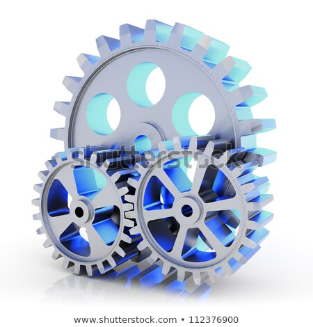 Engineering Process on Metallic Cogwheels. 3D. Stock photo © tashatuvango