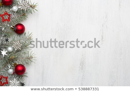 Spruce branch white wood background Stock photo © romvo