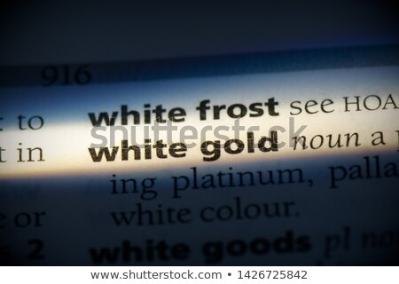 dictionary definition of the word gold in english stock photo © ivelin