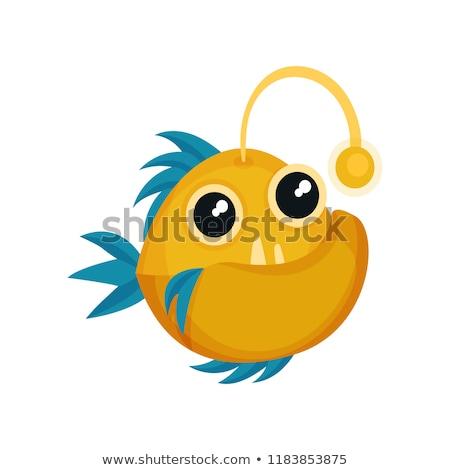 黄色 ピラニア 魚 スタイル 歯 スイミング ストックフォト © NikoDzhi