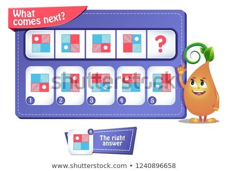 Próximo educativo juego ninos desarrollo lógica Foto stock © Olena