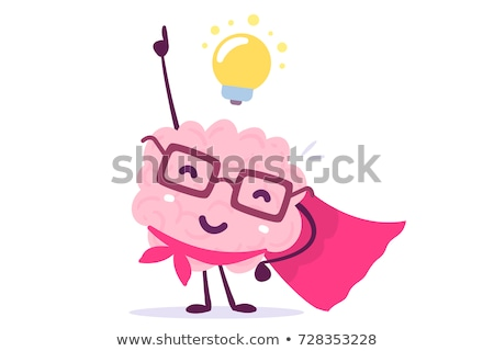 Brain with glasses and idea light bulb. vector Stock photo © Andrei_