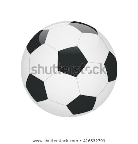 Leuk voetbal cartoon geïsoleerd witte gezicht Stockfoto © doomko