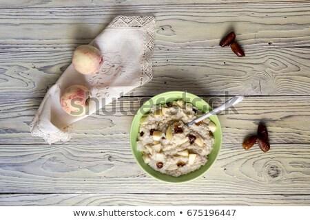Cucchiaio date data sciroppo colazione Foto d'archivio © Digifoodstock