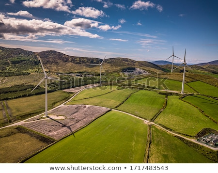 rural scenery with wind turbine Stock photo © prill