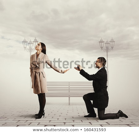 Smiley Propose Engagement Ring Stock photo © lenm