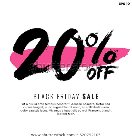 20% off discount offer poster vector illustration Stock photo © studioworkstock