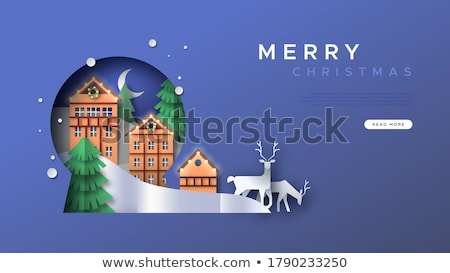 Snow ball with house inside Stock photo © studioworkstock