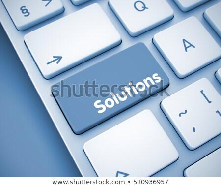 Cooperation - Inscription on White Keyboard Button. 3D. Stock photo © tashatuvango