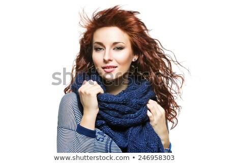 Mulher cabelos longos em torno de pescoço retrato beleza Foto stock © IS2