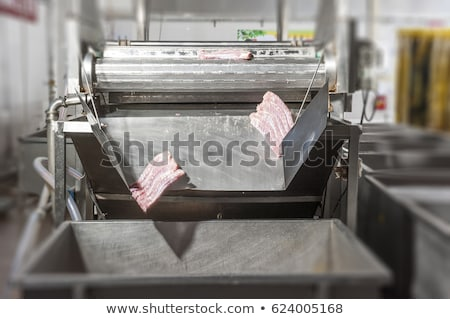 Butcher cleaning meat processing machine Stock photo © wavebreak_media
