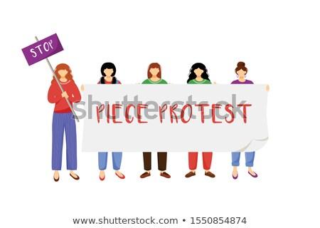 Kobieta wojny pokoju antywojenny ruchu pop art Zdjęcia stock © studiostoks