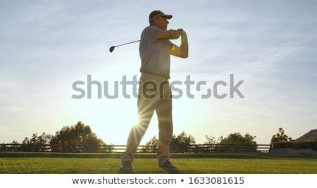 man · spelen · golf · club · natuur · zomer - stockfoto © is2