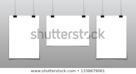 Ayarlamak posterler asılı iplik siyah boş Stok fotoğraf © pakete