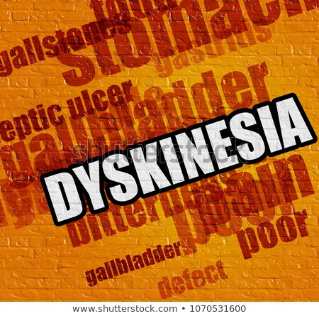 Health concept: Dyskinesia on the Yellow Wall . Stock photo © tashatuvango