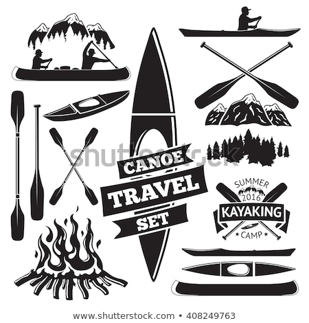 paddle for kayak or canoeing vector illustration Stock photo © konturvid