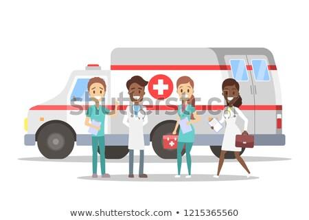 portré · mentős · mentő · orvosi · kórház · nővér - stock fotó © monkey_business