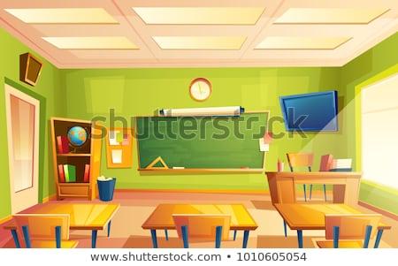 Földrajz iskolatábla terv tábla színes illusztráció Stock fotó © lenm