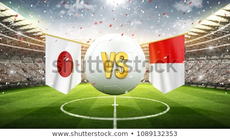 Futebol combinar Japão vs Polônia futebol Foto stock © Zerbor