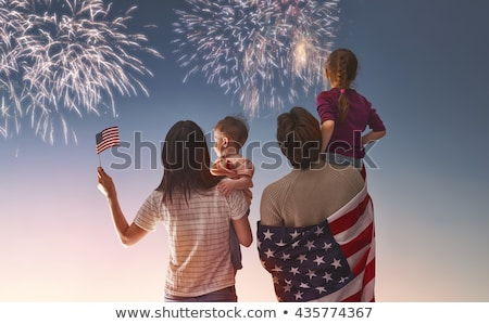 patriotic holiday happy family stock photo © choreograph