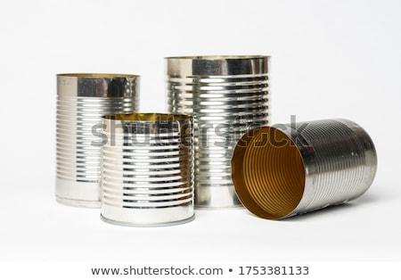 Boş kalay can beyaz temizlemek konteyner Stok fotoğraf © Digifoodstock