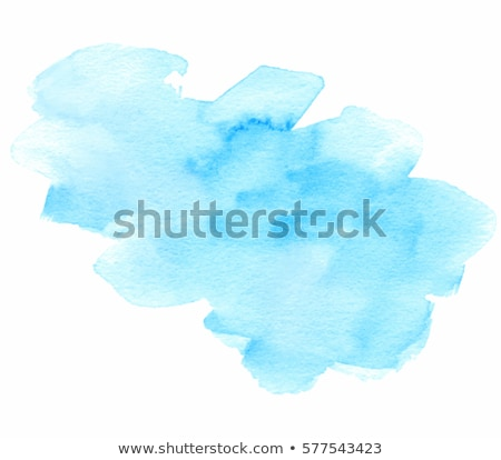 sky blue watercolor hand painted brush stroke Stock photo © SArts