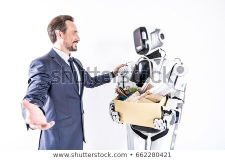 People box with a robot. Humanity and new technologies Stock photo © studiostoks
