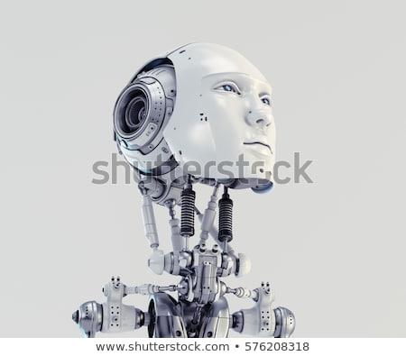 robot · winkelen · 3d · render · zak · markt - stockfoto © julientromeur