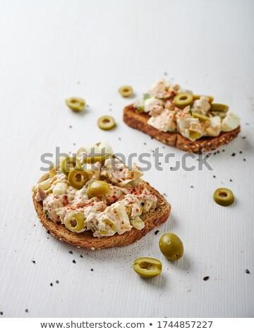 macro · fresco · azeitonas · azeite · branco · comida - foto stock © mpessaris