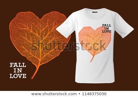 Fall in love. Print on T-shirt, sweatshirts and souvenirs and other uses, vector illustration. Stock photo © ikopylov