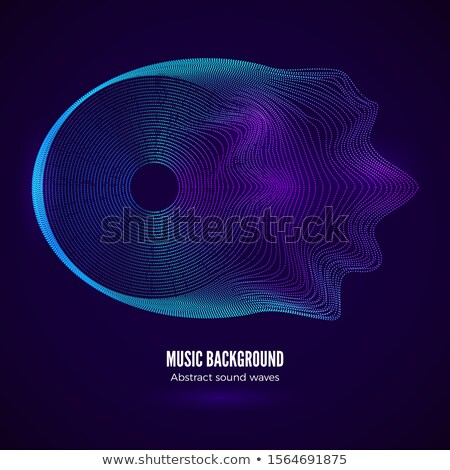 Music Waves Abstract Sound Background Vector. Digital Splash. Artificial Intelligence. Illustration Stock photo © pikepicture