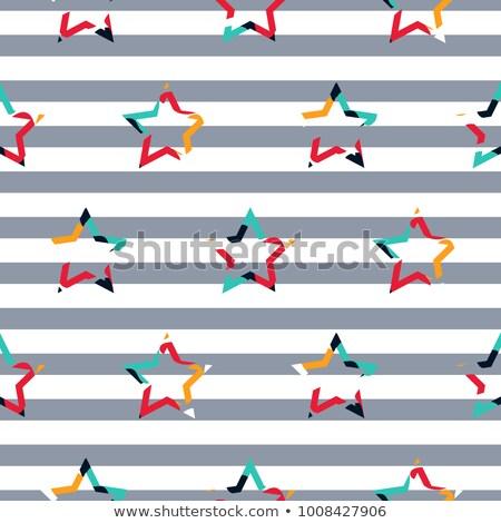 Striped star camo boy seamless vector pattern. Stock photo © yopixart