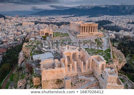 temple of zeus and acropolis athens stock photo © fazon1