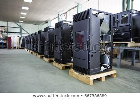 Detalle estufa fábrica primer plano metal industria Foto stock © boggy