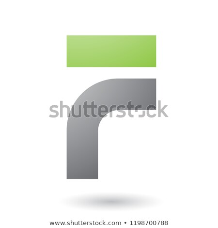 Stock photo: Grey Thick and Bowed Letter F Vector Illustration