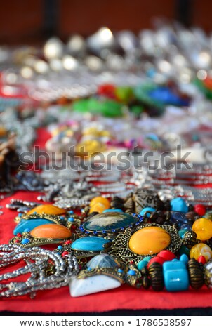 Necklace Accessory Decorated Blue Precious Stone Stock photo © robuart