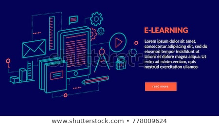 On line education and e learning concept. On line web tutorials. Flat vector illustration. Stock photo © makyzz