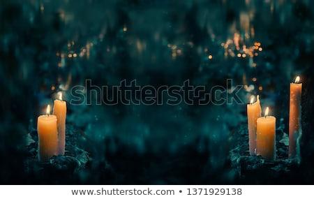 Varázsige ki tűz illusztráció gyermek háttér Stock fotó © bluering