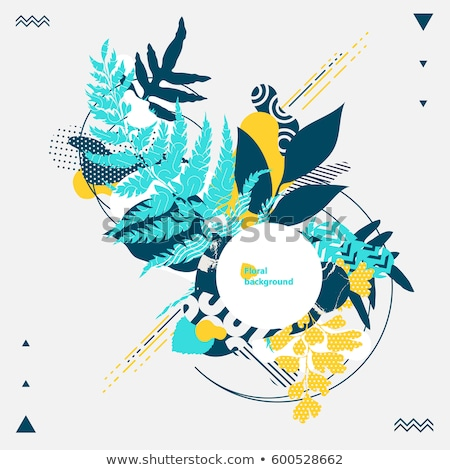 floral composition   modern flat design style illustration stock photo © decorwithme