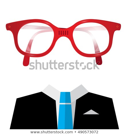 head of mysterious smart casual man in blue suit Stock photo © feedough
