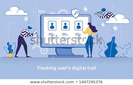 Identiteit hacking gestolen persoonlijke gegevens hacker Stockfoto © Lightsource